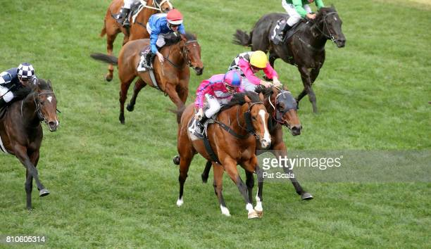 Highland Beat ridden by Beau Mertens wins race 5 during Melbourne Racing at Flemington Racecourse on July 8 2017 in Melbourne Australia