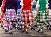 The Edinburgh tattoo Highland Dancers captured during their performance at the 2006 Tattoo at Edinburgh Castle, Scotland