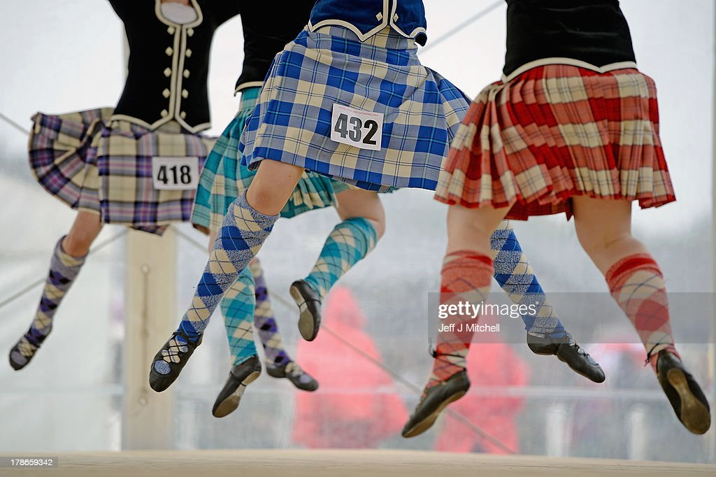 Highland dancers perform the Real of Tulloch during competition at the Cowal Highland Gathering on August 30, 2013 in Dunoon, Scotland. First held in 1894, the Cowal Games are held over three days and are one of the largest in the world attracting competitors from Canada, USA, South Africa, Australia and New Zealand.
