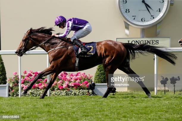 Highland Reel with Ryan Moore up wins the Prince of Wales's Stakes at Ascot Racecourse on June 21 2017 in Ascot England