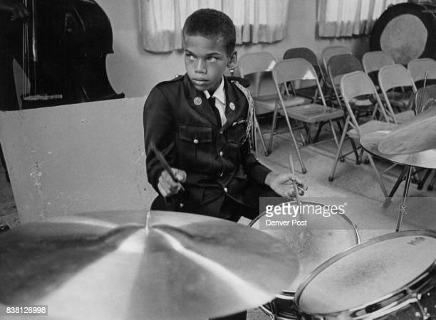 Highlander Drummer Gregory Martin Drills He will be among performers in Bandorama '68 concert Credit Denver Post