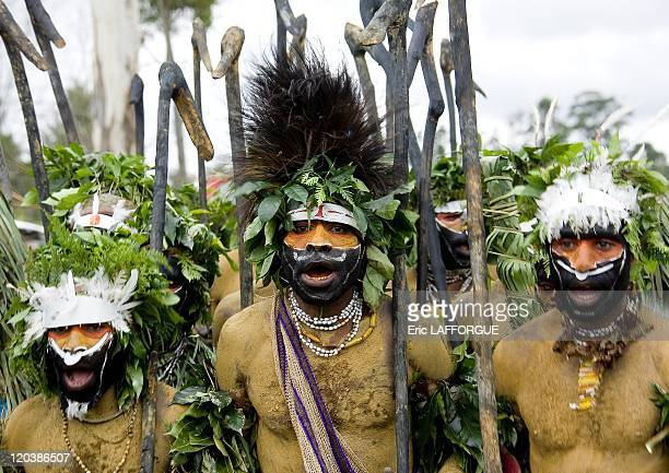 Highlander Papuans In Mount Hagen in Papua New Guinea on August 19 2006 The cultural show in Mount Hagen in the Western Highlands of Papua New Guinea...