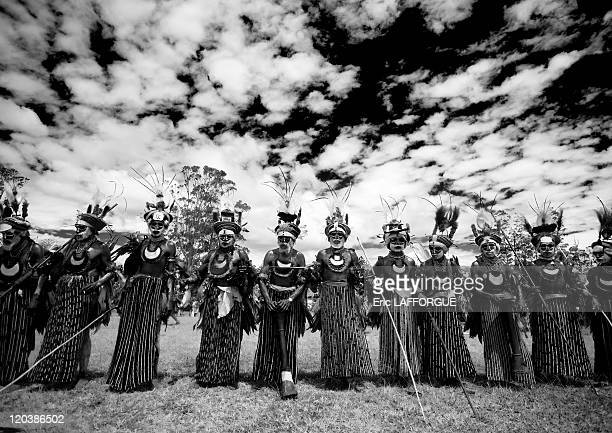 Highlander Papuans In Mount Hagen in Papua New Guinea on August 20 2006 The cultural show in Mount Hagen in the Western Highlands of Papua New Guinea...
