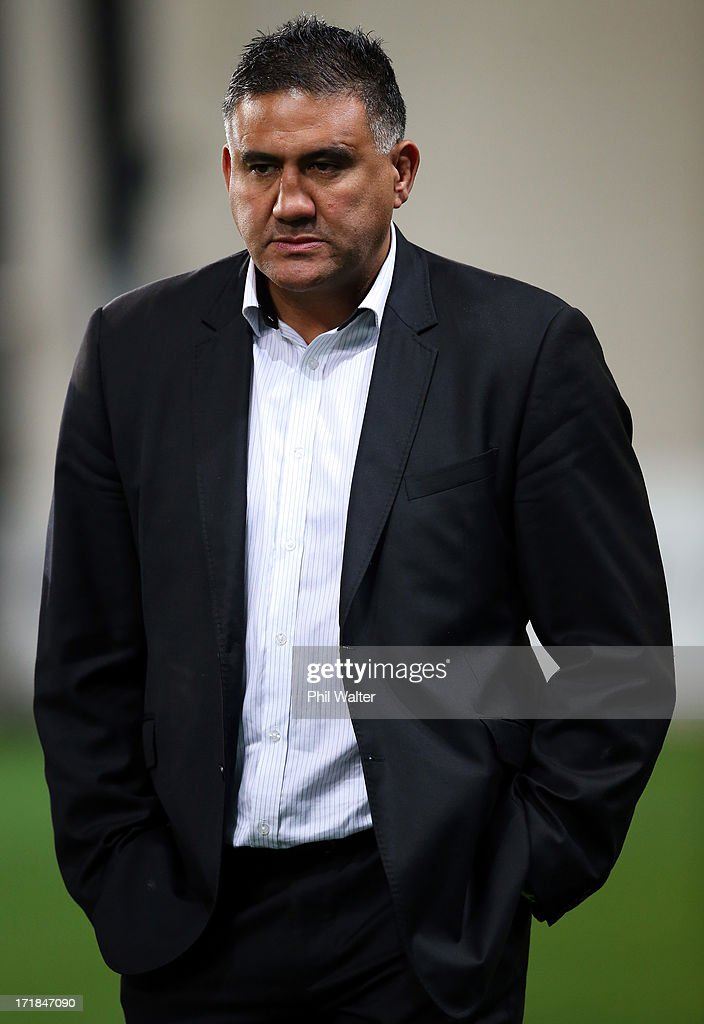 Highlanders coach Jamie Joseph during the round 18 Super Rugby match between the Highlanders and the Crusaders at Forsyth Barr Stadium on June 29, 2013 in Dunedin, New Zealand.