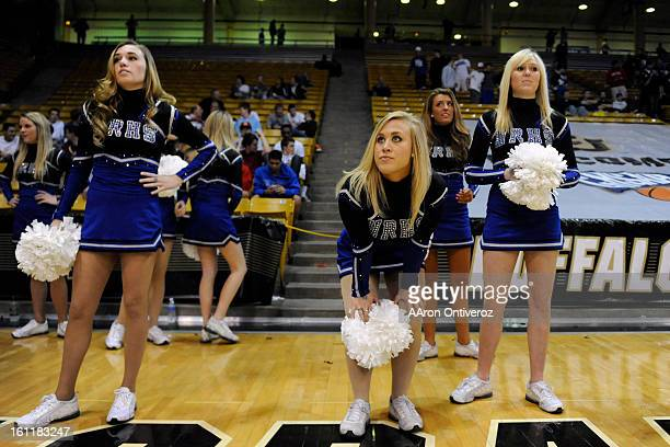 Highlands Ranch cheerleader Paige Bishop watches the action late against the Chaparral Wolverines during Chaparral's 5450 boys class 5A CHSAA state...