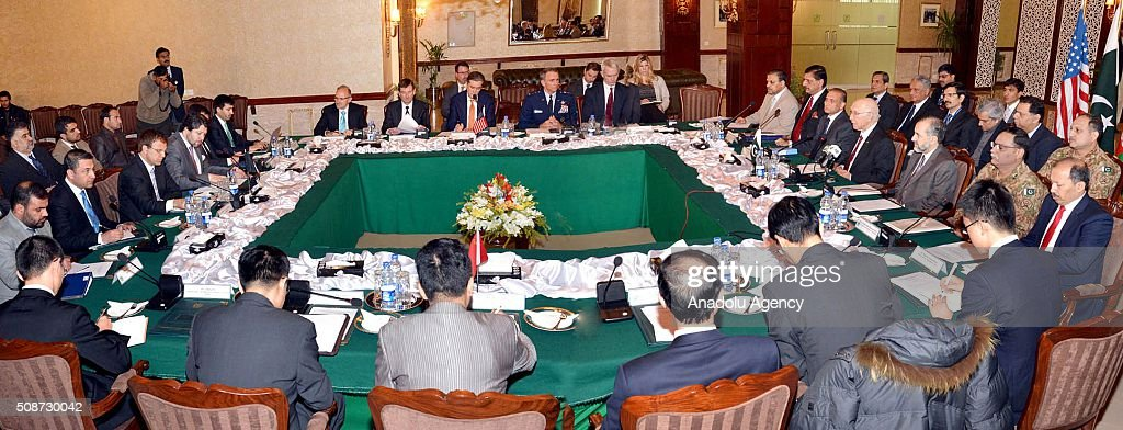 High-level officers from Pakistan, Afghanistan, United States and China meet to discuss reinitialize the peace talks between Afghan Government and Taliban, at Foreign Ministry building in Islamabad, Pakistan on February 6, 2016.