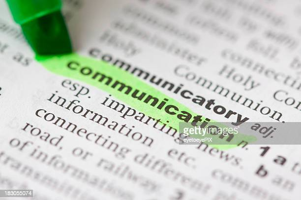 Highlighted communication in dictionary