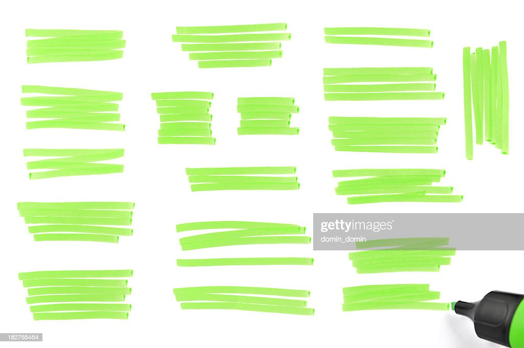 Highlighter traces