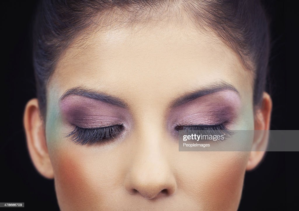 Highlighting her beautiful eyes
