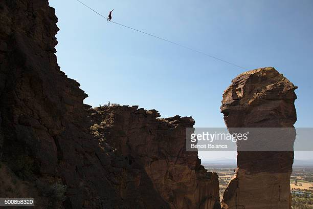 highlining in Smith Rock