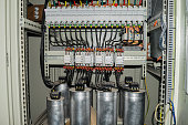 High-power capacitors installed in the electric box
