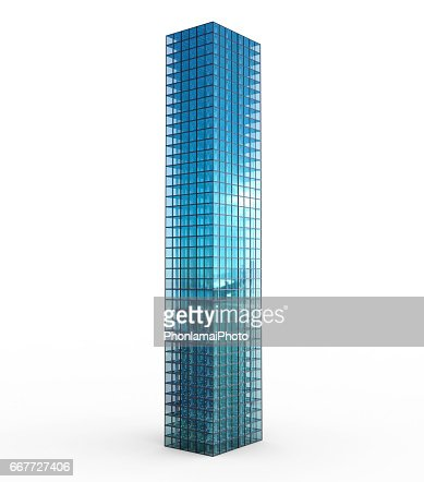 highrise building isolated on white : Stock Photo