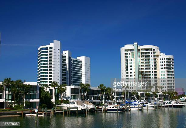 Highrise Condominiums and Marina