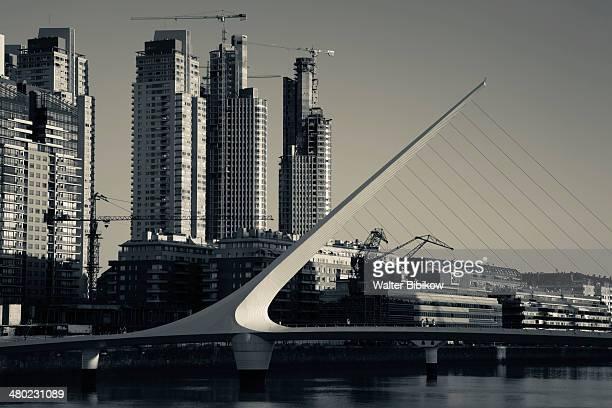 Highrises and Puente de la Mujer bridge