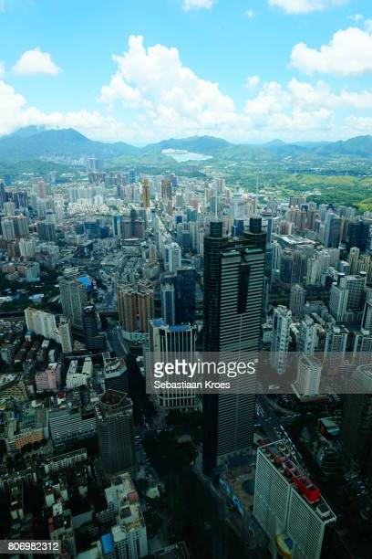 Highrises and Shun Hing Square Tower, Shenzhen, China