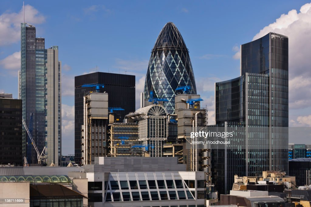 Highrises and urban cityscape : Stock Photo