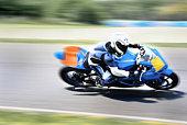 Highspeed-Motorrad Racer in geschlossenen Track