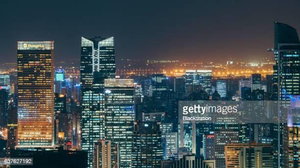 high-tall buildings in the Jinan CBD