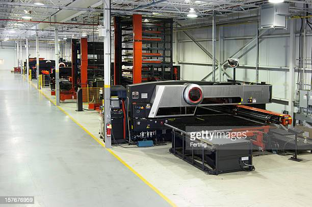High-tech modern metal manufacturing plant