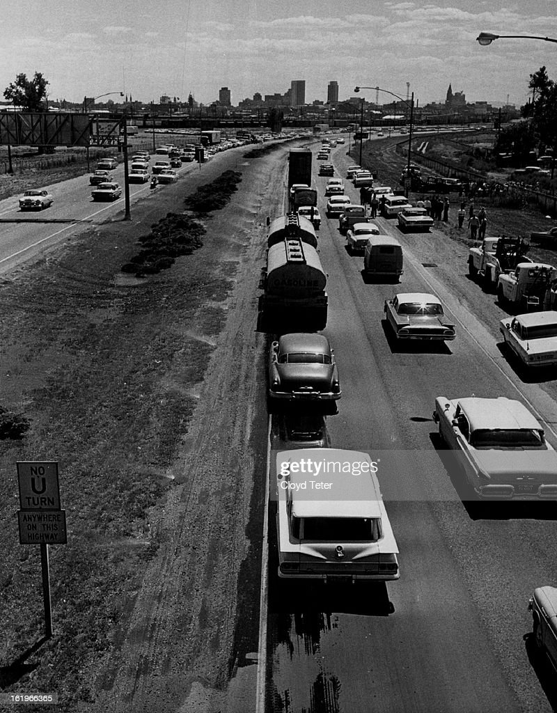 AUG 14 1962 8151962 Highway 25 Valley Highway Tuesday pm Traffic in Southbound Lane