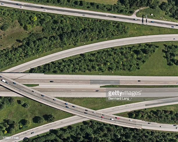 Highway, aerial view