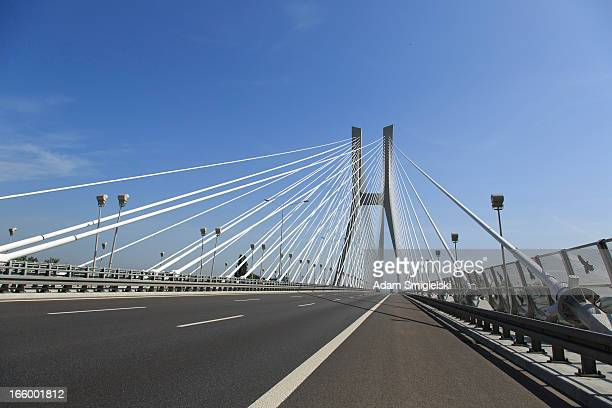 highway and cable-stayed bridge
