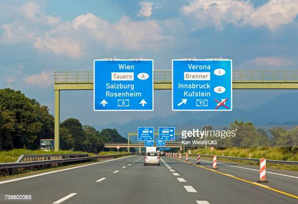 'E52 highway, Bavaria, Germany.'