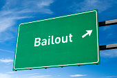 Highway directional sign for Bailout