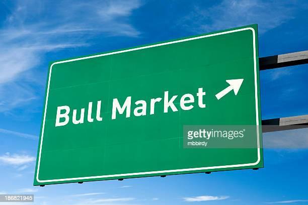 Highway directional sign for Bull market
