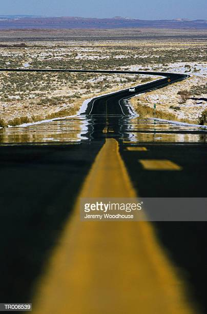 Highway in Desert Heat