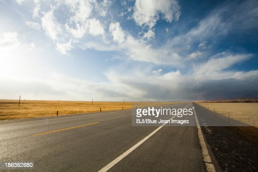 Highway in Qinghai province, China