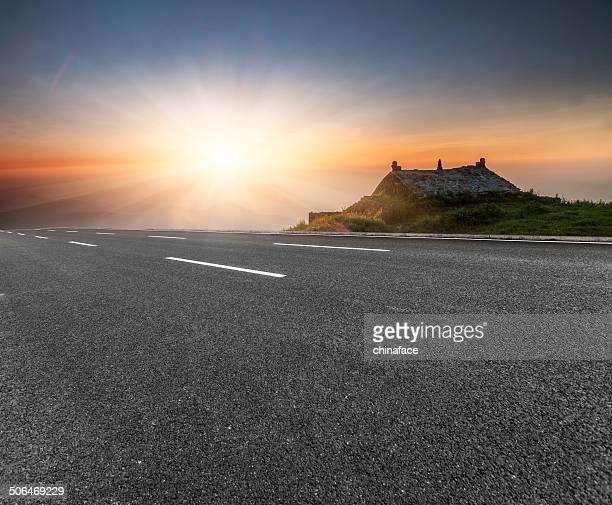 highway in sunrise