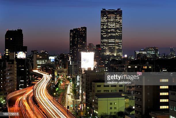Highway in Tokyo's downtown