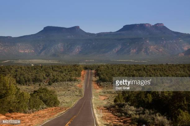 Highway leading towards the namesake Bears Ears mountains in Bears Ears NM