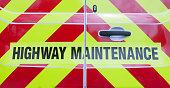 highway maintenance on the back of a van; UK