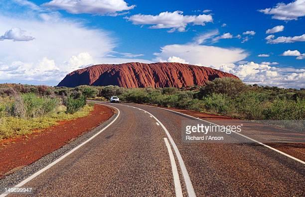 Highway near Uluru (Ayers Rock).