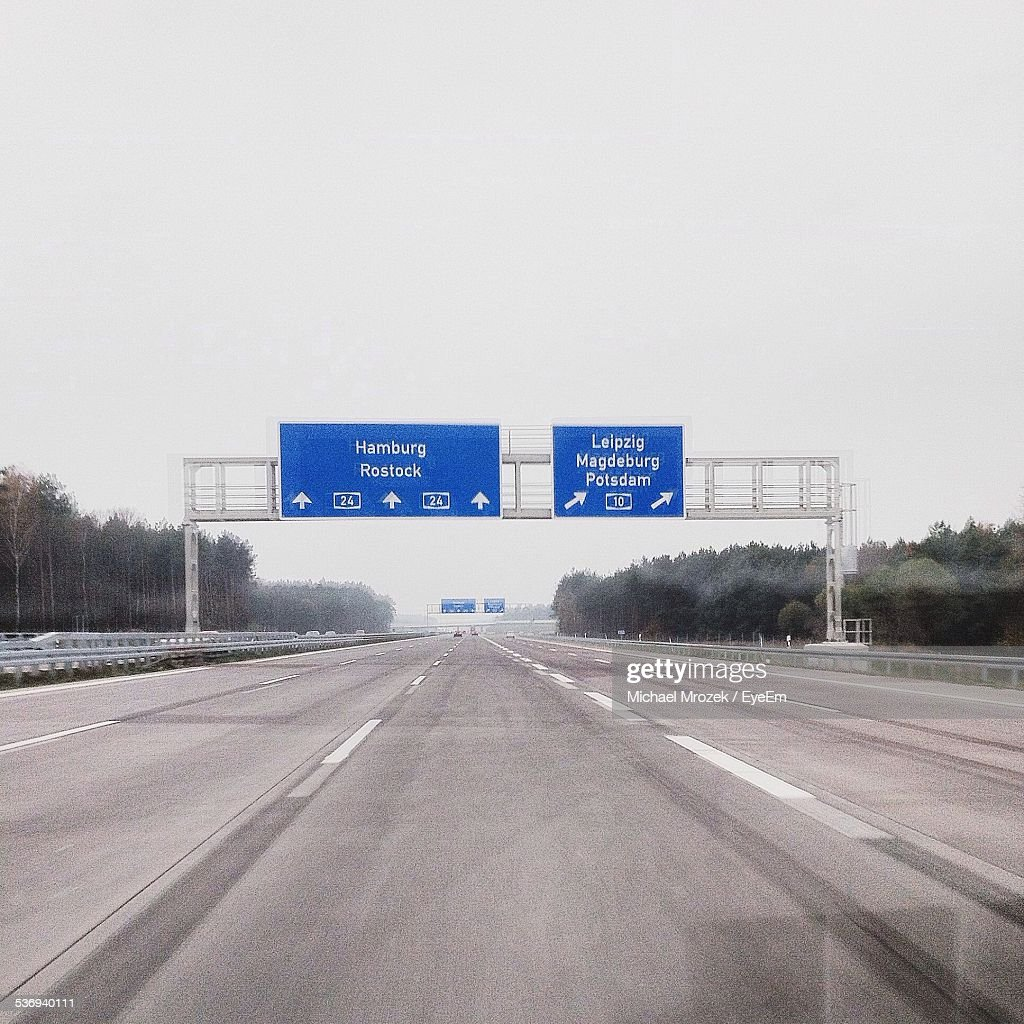Highway On Overcast Day
