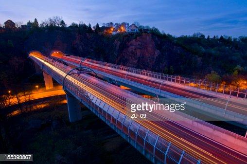 Highway (bridge into the tunnel, near Dresden)