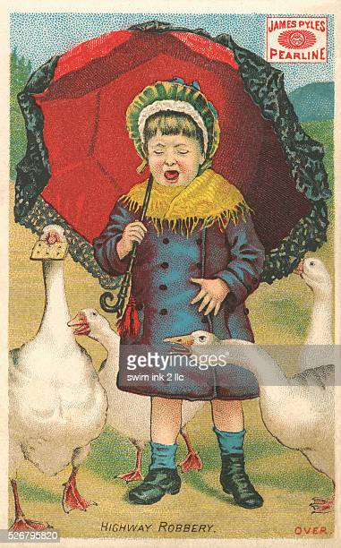 Highway Robbery Victorian Trading Card
