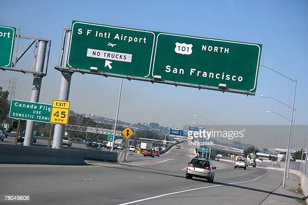 Highway signs and traffic