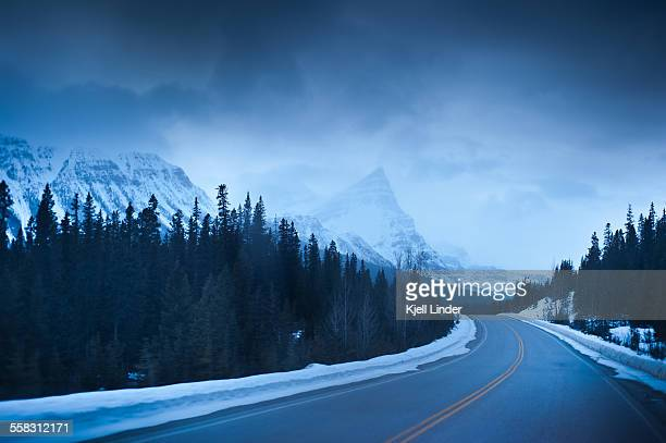 Highway through the Canadian Rockies