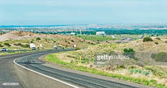 Highway to Albuquerque New Mexico : Stock Photo