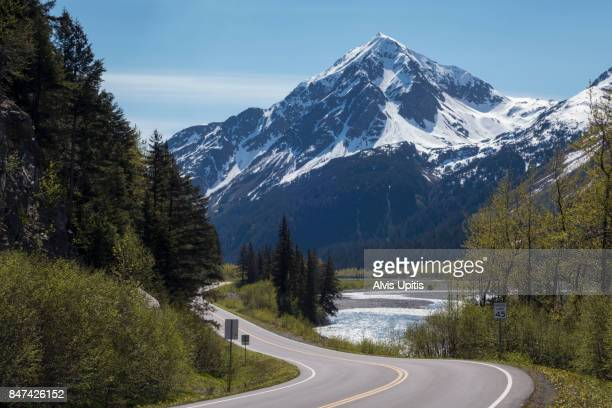 Highway to Exit Glacier and Harding Icefield Kenair Fjords National Park
