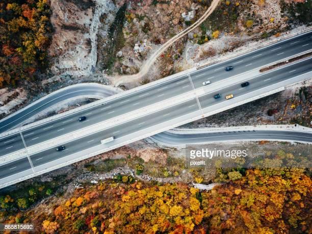 Highway traffic - aerial view