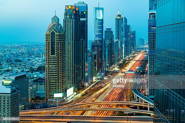Highway traffic in Dubai, United Arab Emirates