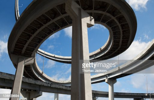 Highway twirling into sky : Stock Photo