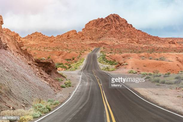 Highway Valley of Fire State Park Nevada USA