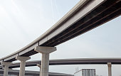 low angle highway viaduct