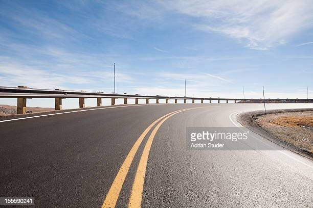 Highway with Guard Rail