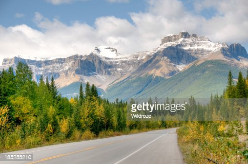 Highway with mountain view